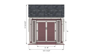10x10 garden shed front side preview