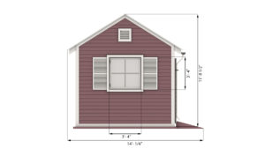 10x10 garden shed side preview