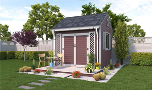 10x10 gable garden shed plans