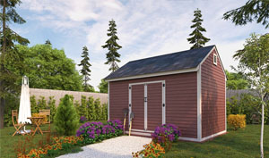10x10 gable storage shed plans