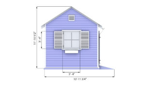 10x12 garden shed front preview