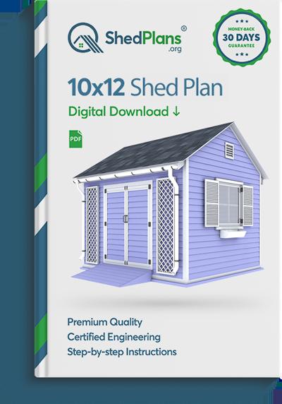 10x12 garden shed plan