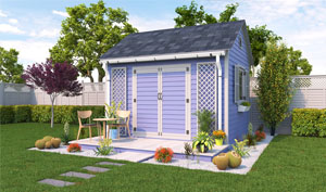 10x12 gable garden shed plans