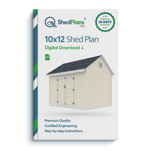 10x12 storage shed plan