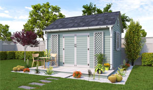 10x14 gable garden shed plans