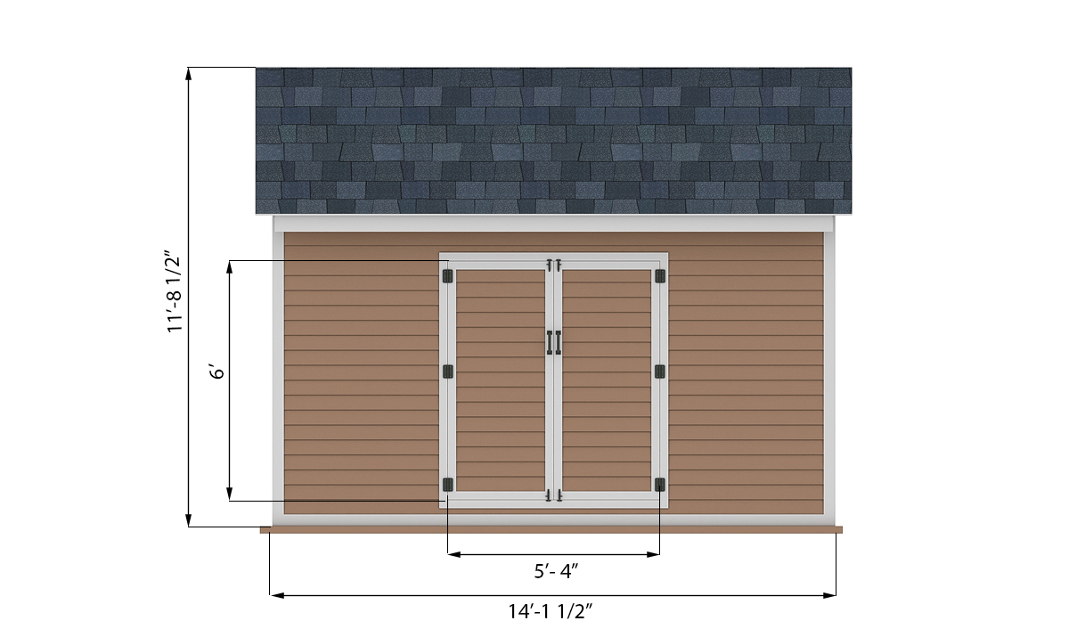 10x14 storage shed front side preview