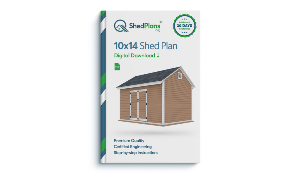 10x14 storage shed plan
