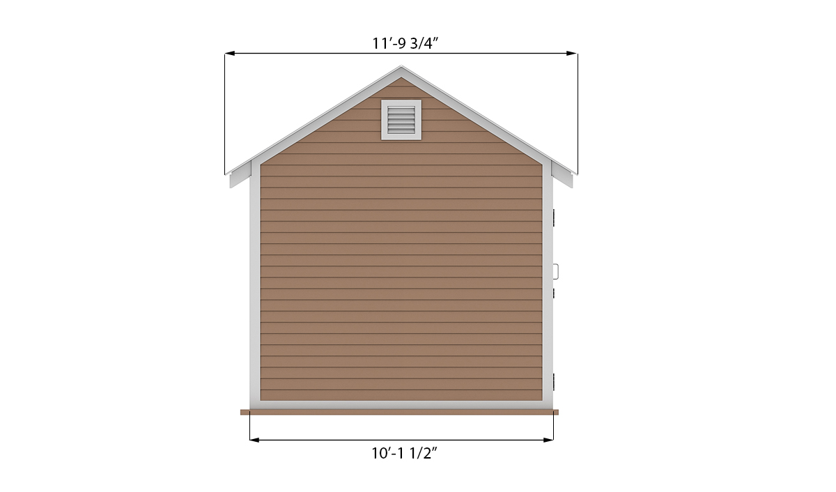 10x14 storage shed side preview