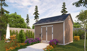 10x14 gable storage shed plans