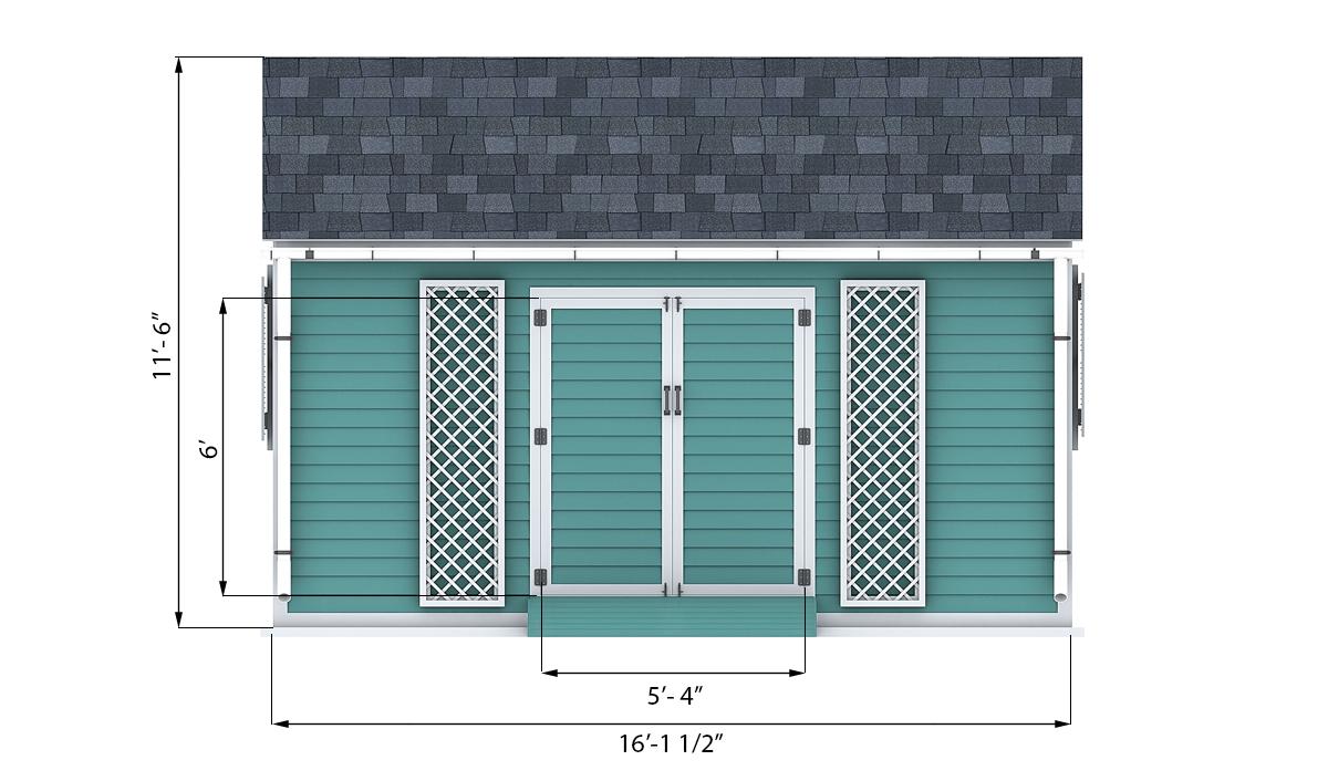 10x16 Garden Shed Plan Shedplans Org