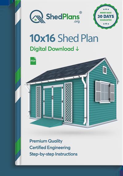 10x16 garden shed plan