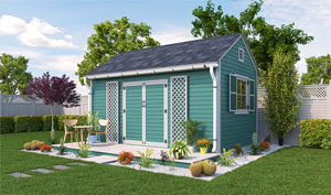 10x16 gable garden shed plans