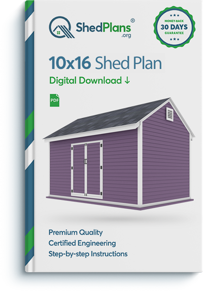 10x16 storage shed plan