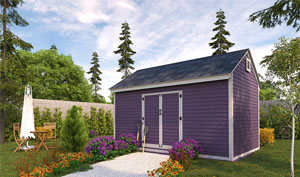 10x16 gable storage shed plans