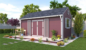 10x20 gable garden shed plans