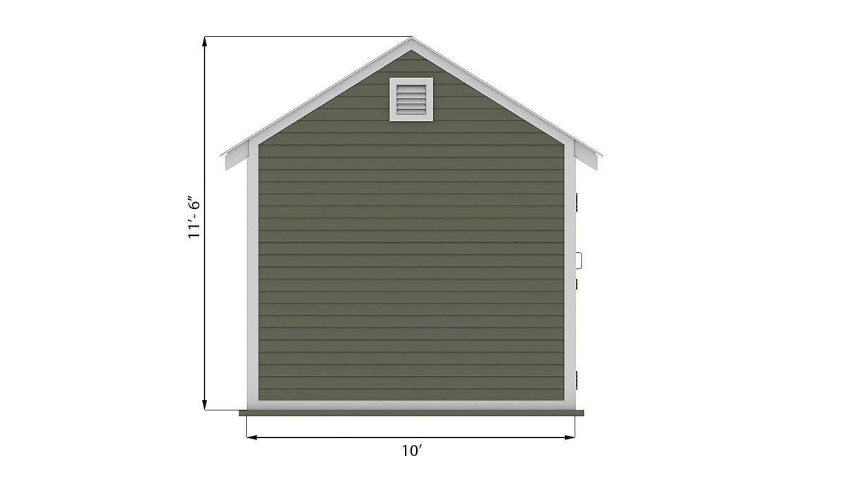 10x20 storage shed side preview