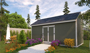 10x20 gable storage shed plans