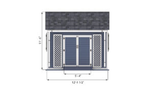 12x12 garden shed front side preview