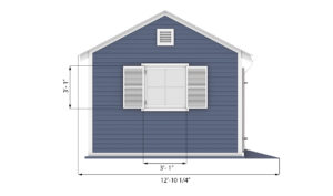 12x12 garden shed side preview