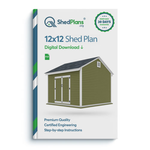 12x12 storage shed plan