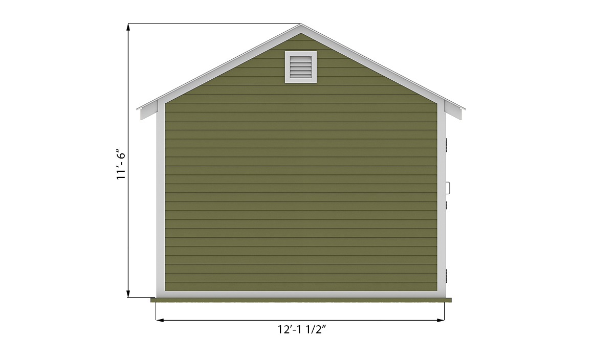 12x12 storage shed side preview