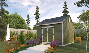 12x12 gable storage shed plans