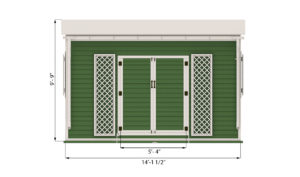 12x14 garden shed front side preview