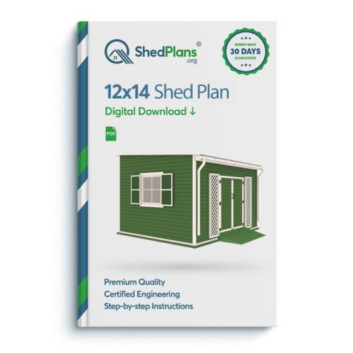 12x14 garden shed plan