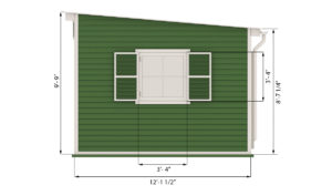 12x14 garden shed side preview