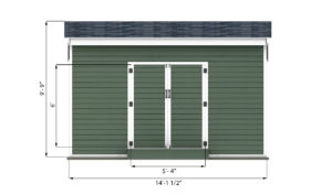 12x14 storage shed front side preview