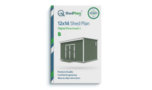 12x14 storage shed plan