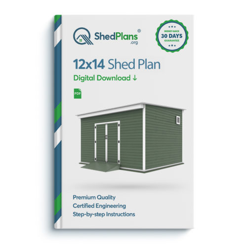 12x14 storage shed plan