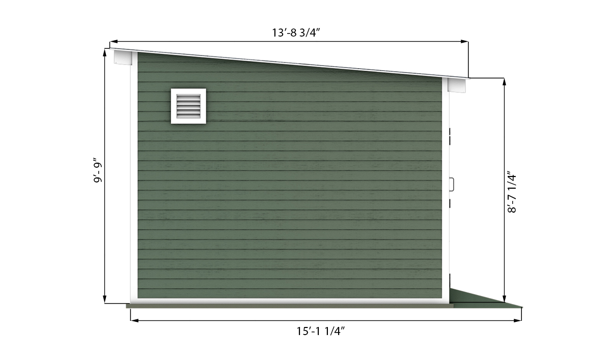 12x14 storage shed side preview