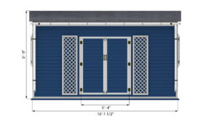12x16 garden shed front side preview