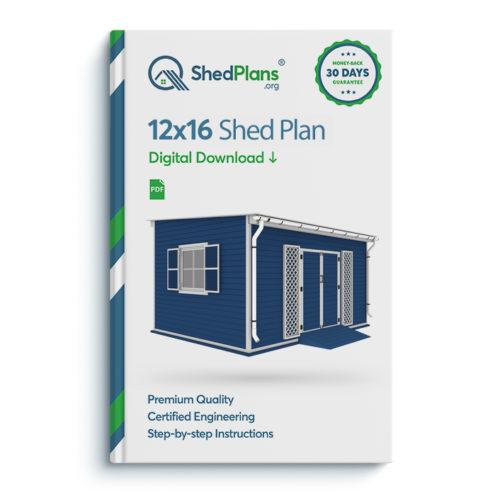 12x16 garden shed plan