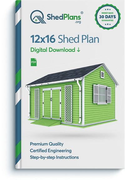 12x16 garden shed plan preview