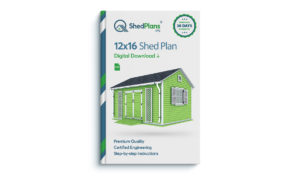 12x16 garden shed plan view