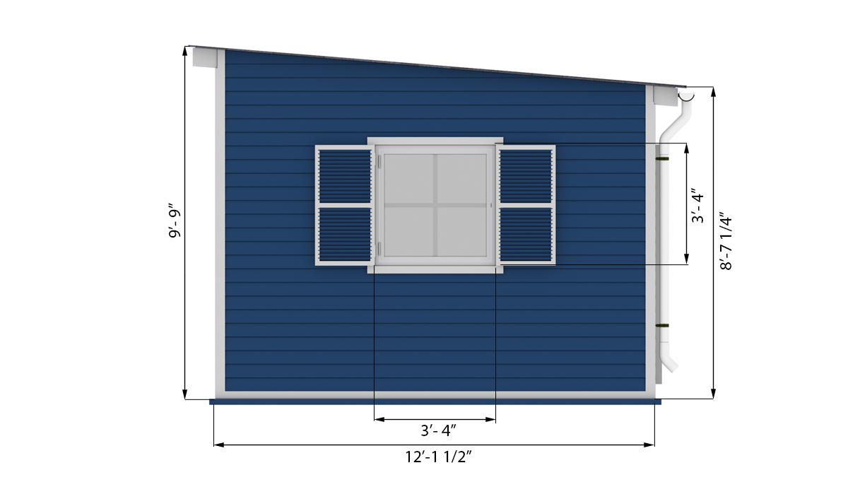 12x16 garden shed side preview