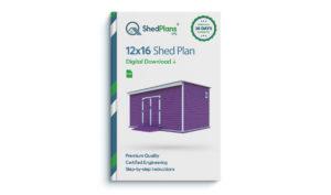 12x16 storage shed plan