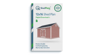 12x16 storage shed plan