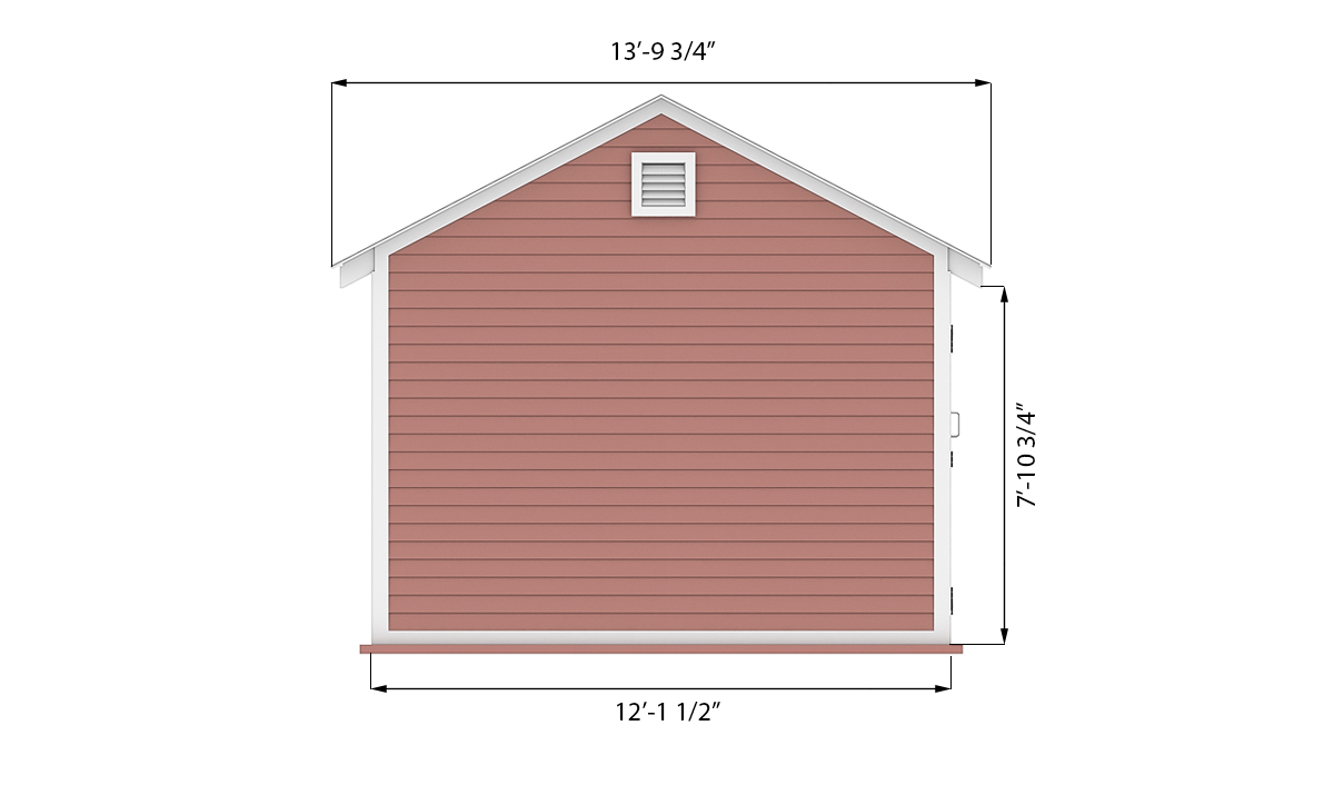 12x16 storage shed side preview