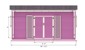 12x18 garden shed front side preview