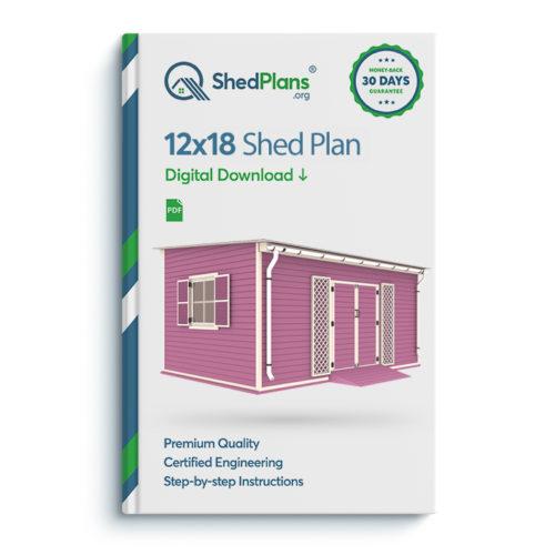 12x18 garden shed plan