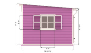 12x18 garden shed side preview