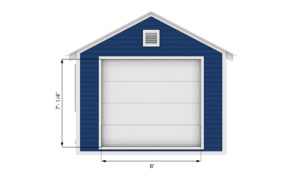 12x20 garage shed front side preview