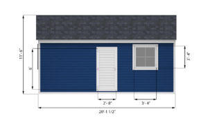 12x20 garage shed left side preview