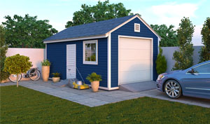 12x20 gable garage shed plans