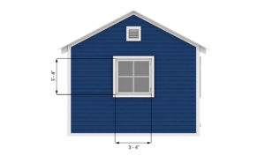 12x20 garage shed window measures