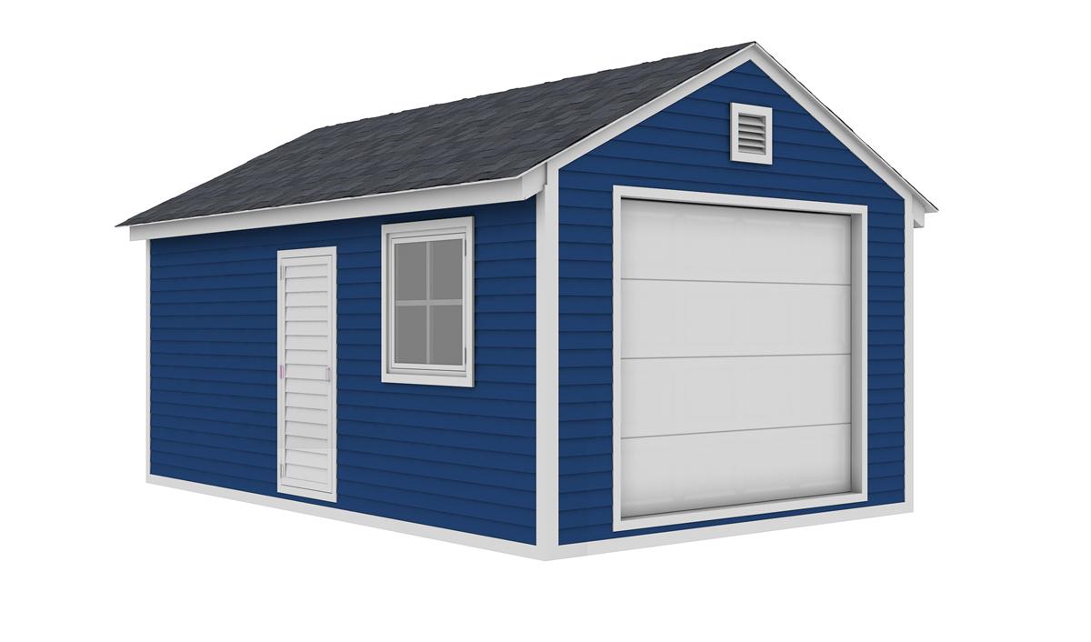 12x20 garage shed