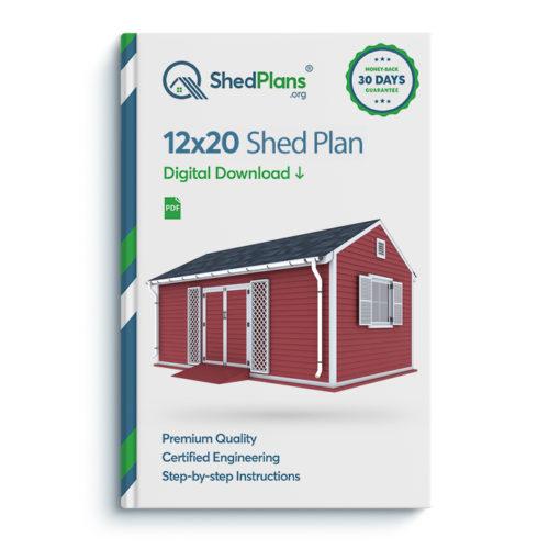 12x20 garden shed plan